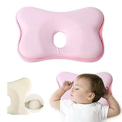 Babykopfkissen,Babykissen Gegen,Kleines Babykopfkissen,Plattkopf Babykissen,Baby Memory Schaum Kissen,Kissen Säugling Neugeborene,Baby Kissen