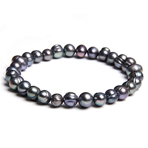 Pulseras Brazalete Joyería Mujer Pulseras De Perlas Joyas Hechas A Mano para Mujer Pulsera De Perlas Irregulares-6_19Cm