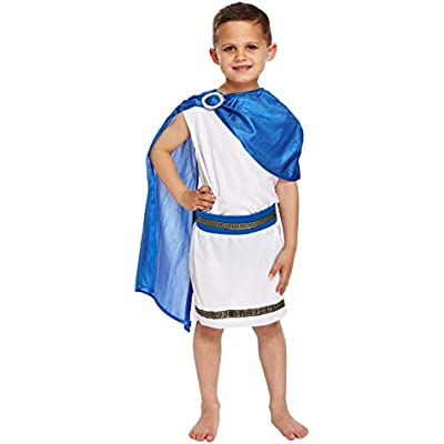 Boys Roman Toga Emporer Book Day Ceaser Historical Fancy Dress Costume Outfit