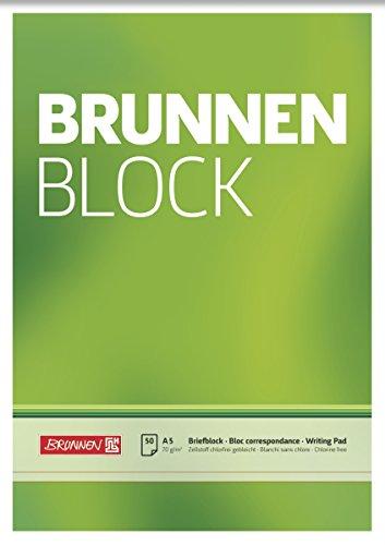 Brunnen 1052426 Briefblock / Schreibblock / Der Brunnen Block (A5, blanko, 50 Blatt, 70 g/m²)