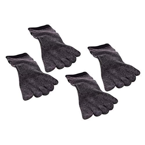None 2 Paar Flache Socken Elastische Baumwolle Flip-Flop Zehensocken Schweißabsorbierende Baumwolle Split Toe Fünf Finger Atmungsaktive Bootssocken Schuh Fußkettchen für Jungen Männer
