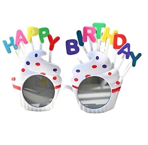 NOBRAND Regalo Maravilloso Pero práctico 4PCS De Cumpleaños Divertida Lentes De Los Vidrios De La Novedad Pastel En Forma De Gafas De Sol De Fiesta De Cumpleaños Feliz Gafas (Color : C)