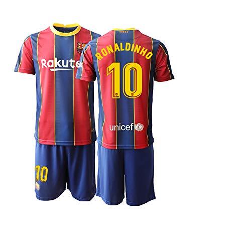 JEEG 20/21 Herren Ronaldinho 10# Fußball Trikot Fans Jersey Trainings Trikots (M)