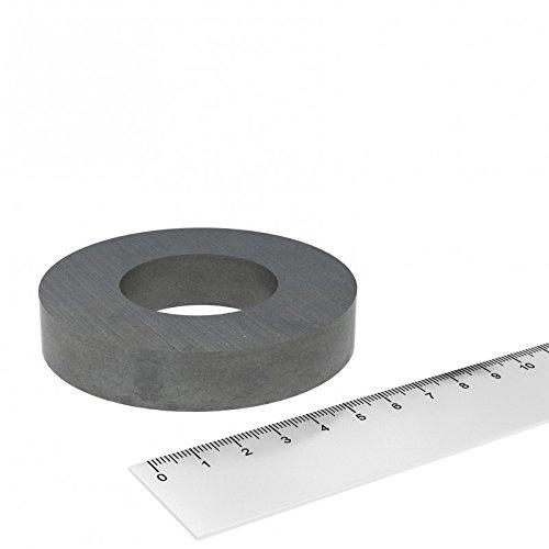 Ferrit Ringmagnet 80 x 15 mm mit 40 mm Bohrung, Hochtemperatur bis 250°C