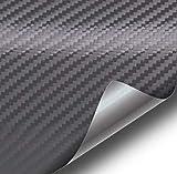 VViViD XPO Dark Grey Carbon Fiber Car Wrap Vinyl Roll with Air Release Technology (50ft x 5ft (Full Car Wrap Roll))