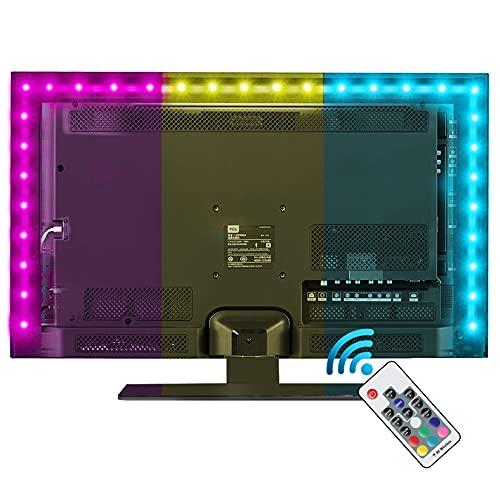 Led Strip Lights,Vansky Bias Lighting for 40-60 inch TV 6.6ft RGB USB Powered LED Light Strip with RF Remote,TV Backlight Kit for Flat Screen TV,PC