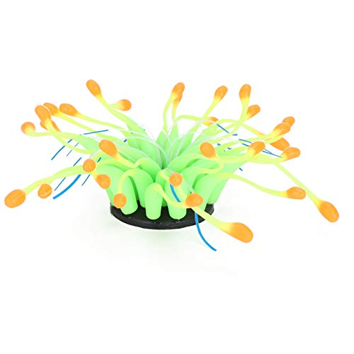 SALUTUYA 17 cm, realistisch, ungiftig, künstliche Koralle, langlebig, für Aquarium zur Aquarienlandschaft(Orange)