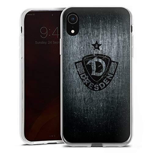 Silikon Hülle kompatibel mit Apple iPhone Xr Case transparent Handyhülle SG Dynamo Dresden Offizielles Lizenzprodukt Vintage