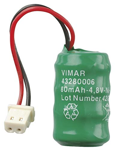 Vimar 00910 Batteria Ricaricabile Ni-MH 4,8V 80mAh per torce elettroniche