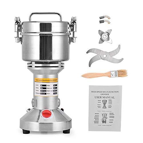 ETE ETMATE Portable Grinder Grinder 220V Grain Grinder Mill Spice Herb Cereal Mill, 3 Lame Timing Grinding Machine Robot da Cucina ad Alta velocità(500g)