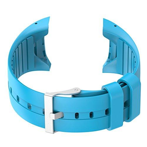 Dolity Orologio Silicone Banda Cintura per Polar M400 M430 Fitness Sport Watch - Blu