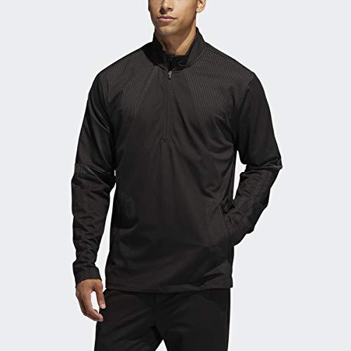 adidas Sport Warp Knit 1/4 Zip Chaqueta para Hombre, Hombre, Chaqueta, TM5463S20CF, Negro, S