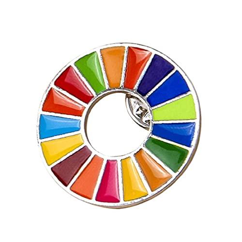 Broche de Objetivos de Desenvolvimento Sustentável das Nações Unidas SDGs Rainbow Pin Badge Objetivos de Desenvolvimento Sustentável