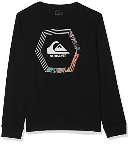 Quiksilver EQBZT04031 T-Shirt Manches Longues Garçon, Black, FR : M (Taille Fabricant : M/12)