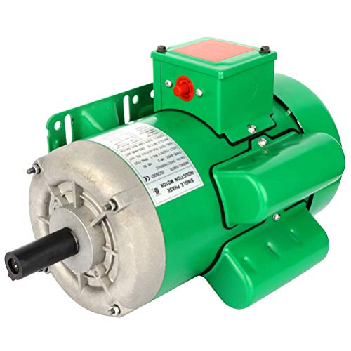 ECCPP 2 HP Single Phase Air Compressor Electric Motor 145T Frame 60 HZ Frequency 1725 RPM 20.0A / 10.0A 7/8