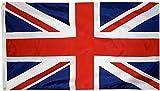 Ericraft Bandera Reino Unido Grande 90x150cms Bandera Inglesa balcón para Exterior Reforzada y con 2 Ojales metálicos, Bandera de Gran Bretaña