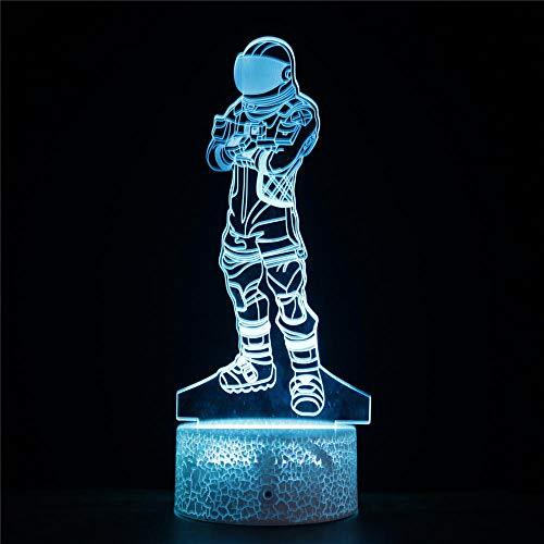Fortnight Luz Nocturna 3D de luz nocturna Lampara Noche Infantil 7 Colores Sensor Lámpara de Escritorio para niños Navidad Regalos de cumpleaños Decoración del hogar