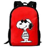 Beating Heart Mochila Escolar, Mochila Informal Snoopy Fresca Personalizada Mochila Escolar de Viaje Mochila Gift-G91