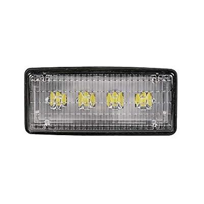 "Primelux LED Troctor Flood Light 12V Waterproof 2""x5"" Rectangular 20W 2000lm 6000K LED Troctor Light for Tractors 4050/8300, Construction & Industrials - (Single)"