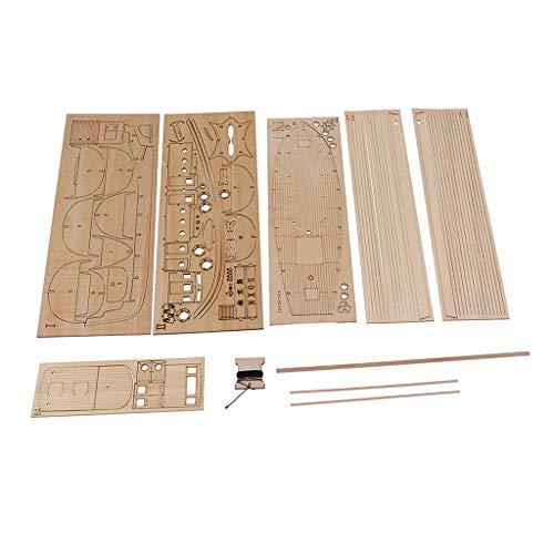 Hellery Ensamblaje de Bricolaje Barco de Pesca 3D Puzzle de Madera Modelo Arquitectura Niños