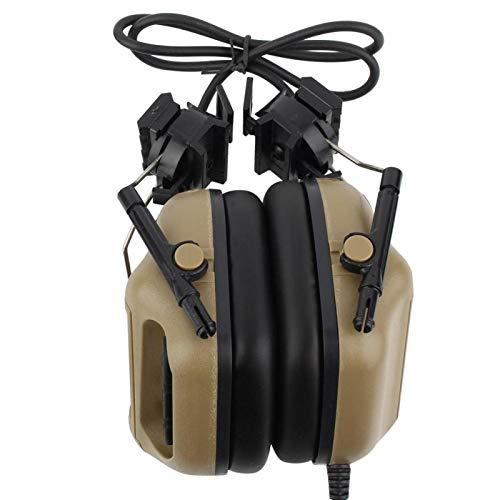 SALUTUYA Cómodo de Usar Auriculares con micrófono Auriculares con micrófono a Prueba de Agua, para Juegos(Mud Color)