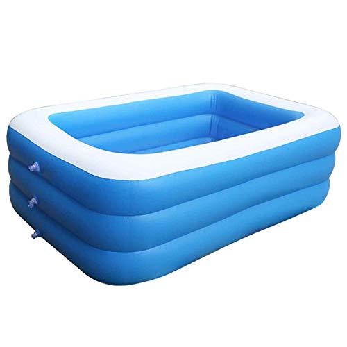 Piscina Hinchable Rectangular,Transparente Pool Plegable Inflable Gruesas Adultos Calientes Bañera Piscina Extra Grande Piscina Duradera para Patio Fiesta Al Aire Libre