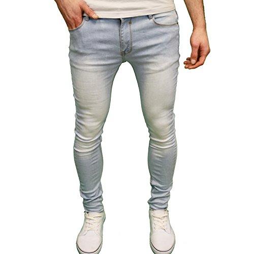 SoulStar Deo Herren Stretch Skinny Fit Jeans Gr. 34 W/34 L, Hellblau