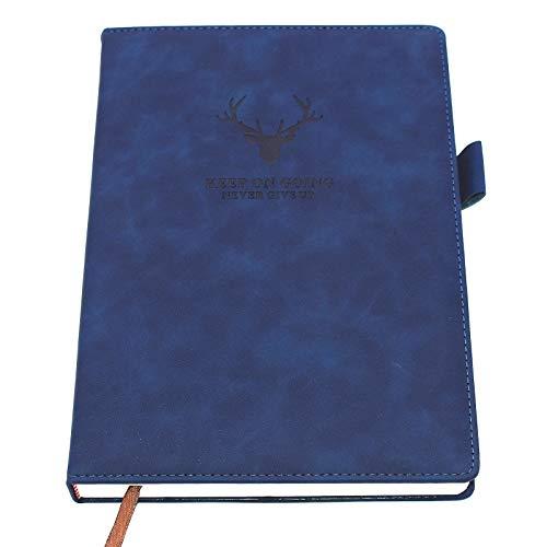 B5 Notizbuch, liniert, groß, Hardcover, 360 Seiten, 80 g/m², dickes Premium-Papier, 24 x 17 cm, perfekt für Büro, Zuhause, Schule, Büro, Schreiben und Notizen (blau)