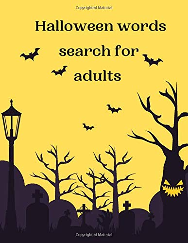 Halloween word Search for adults: 40 Halloween Word Search Puzzle Book in Large Print for adults