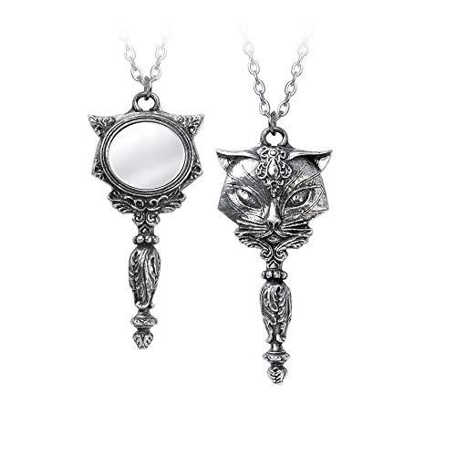 Alchemy Gothic Sacred Cat Vanity Frauen Halskette silberfarben Hartzinn Gothic, Katzen
