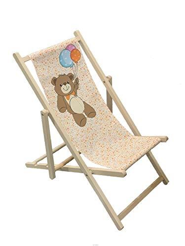 Teddy – Holz-Klappstuhl für Kinder, Outdoor, Garten, Terrasse, Balkon, Camping