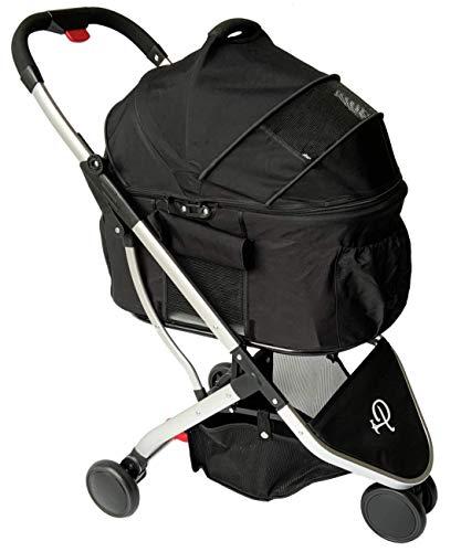 Petique ST09020000 Newport | 3-in-1-Luxusreisesystem | Haustier-Buggy | abnehmbare Tragetasche | Autositz | Hundewagen | Hundebuggy | Für Haustiere bis zu 15,5 kg | Innenraum 60 x 35 x 50 cm, 7.6 kg