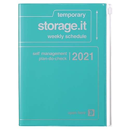 MARKS 2020/2021 Taschenkalender A5 vertikal, Storage.it Turquoise.