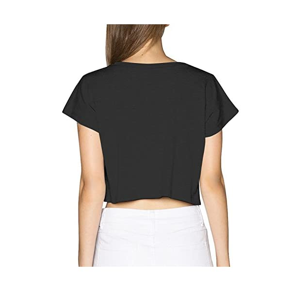 SARA NELL Women's Juniors Galaxy Unicorn Crop Top T-Shirt Tees White 6