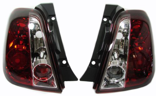 Carparts-Online 13733 Klarglas Rückleuchten rot klar