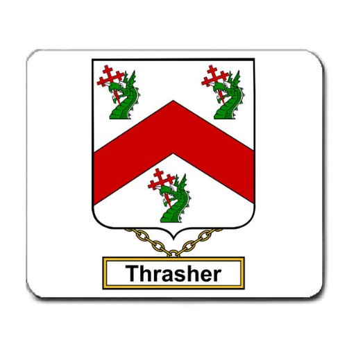 Thrasher Family Crest Coat of Arms Mouse Pad