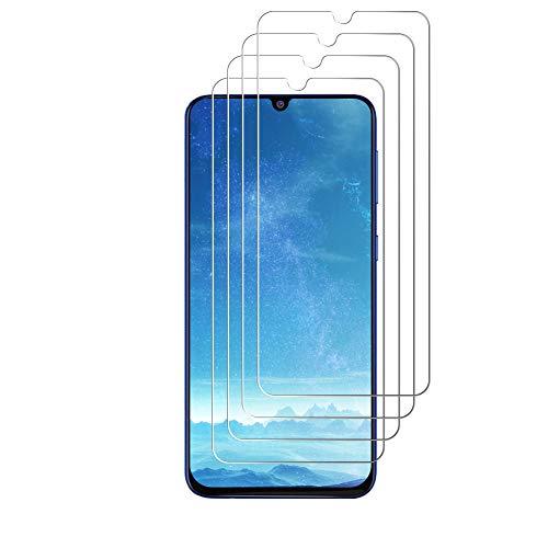 J&D Kompatibel für Samsung Galaxy M31 Panzerglas Schutzfolie, 4er Packung [Vorgespanntes Glas] [Nicht Ganze Deckung] Glas Displayschutz für Galaxy M31 Panzerglas Displayschutzfolie