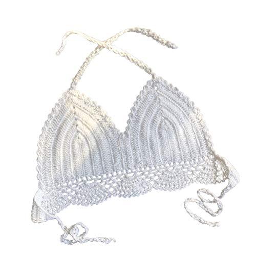 LUOEM Handgemaakte gehaakte bralette bikini top strand gebreide bralette holle uit gebreide bikini ondergoed voor vrouw dame vrouw