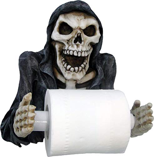 Nemesis Now Reapers Revenge Toilettenpapierhalter, 29,5 cm, Schwarz