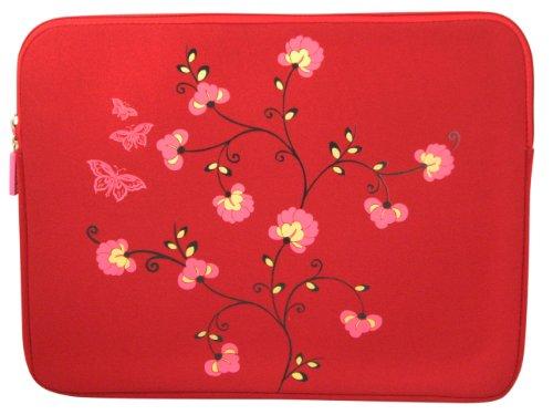 Elite 15,4 polegadas, laptop/notebook, bolsa, manga - flor vermelha -LS1511BD