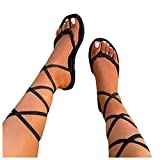Tavorpt Sandals for Women, 2021 Comfy High Heel Lace Up Sandals Summer Beach Travel Sandal Roman Shoes Ladies Flip Flops