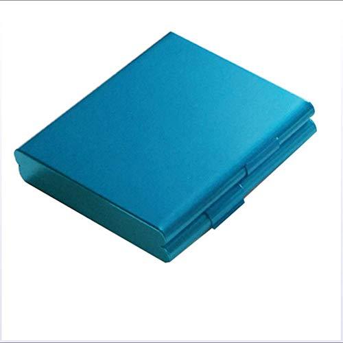 NACHEN Zigarettenetui Zigarettenetui Metall Zigarettenetui Aluminium Silber Zigarettenetuis fassen 20 Zigaretten,Blue,9x8x1.6cm