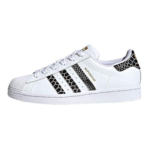 adidas Damen Superstar Synthetik Sneaker, Weiß - weiß - Größe: 38 EU