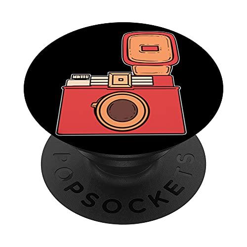 El fotógrafo de la cámara de la vendimia PopSockets PopGrip Intercambiable