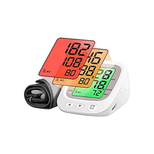 WGHH Monitor de la presión Superior Blood, 2 Usuario Modos Cada uno con Capacidad de 96 Memoria, Pantalla LCD Grande con luz de Fondo, detección de la arritmia
