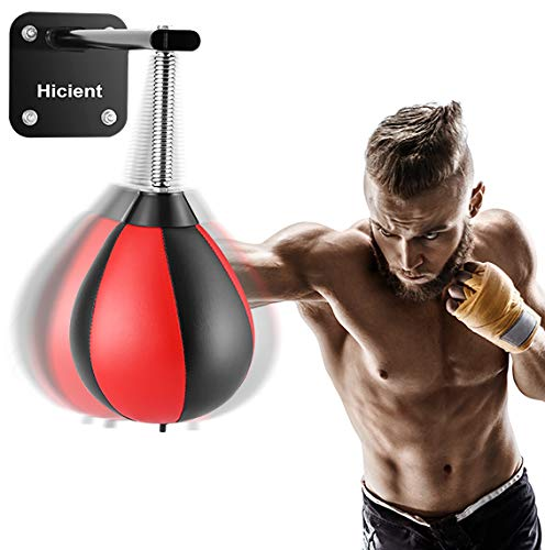 Hicient Punching Bag Reflex Speed Bag with Reinforced Spring Wall-Mounted Strong Durable Boxing Ball Relief Stress Ball for Kids Adults Home Office Gym