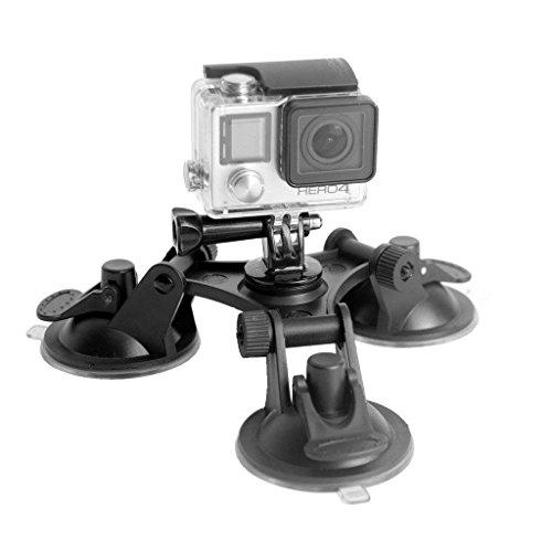 Shoot® 3er Saugnapf Halterung für GoPro Hero 6/5/4/3/2, Action Cams