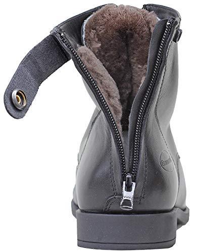Euroriding Davos Jodhpur Stiefeletten Winter m.Lammfell schwarz mit RV hinten 40