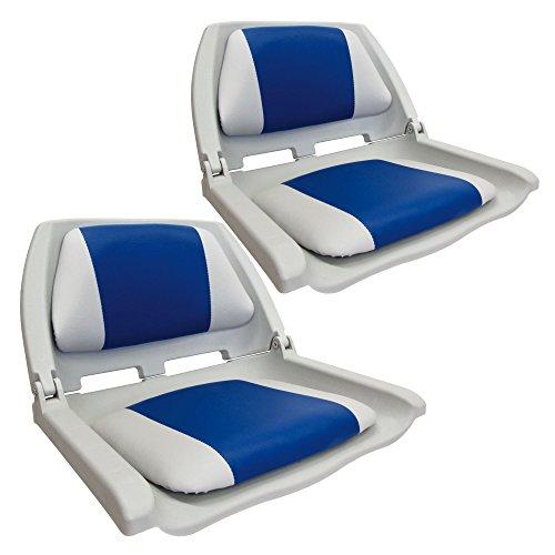 Waterside2er Set Klappbarer Design Allwetter Bootssitz (Boat Seat) mi
