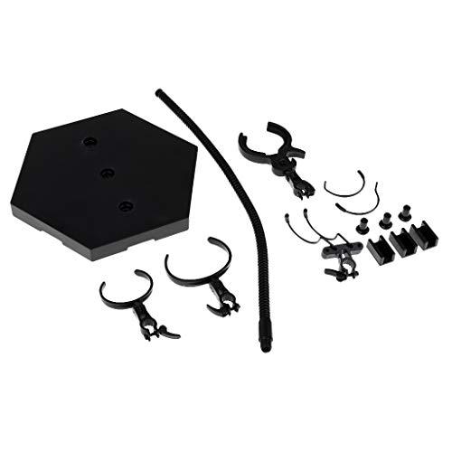 KESOTO Metall 1/6 Puppenständer Puppenhalter Figurenständer Display Ständer für Actionfiguren, Schwarz